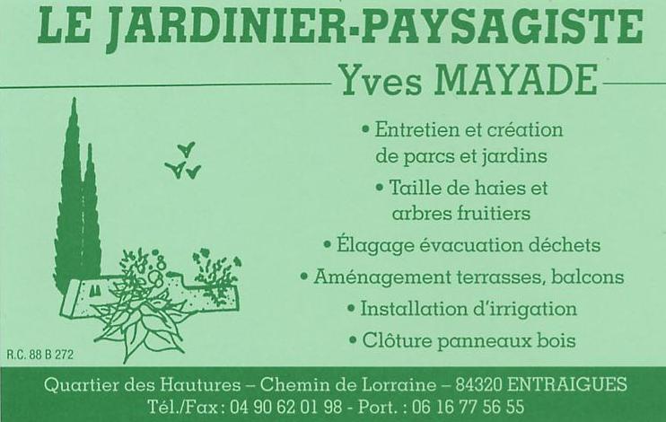 SARL Le Jardinier Paysagiste Yves MAYADE